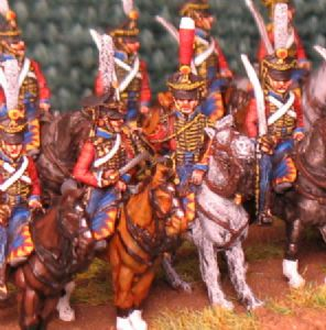 15mm, Napoleonic Russian Guard Hussars AB 12 figures